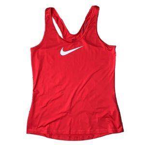 Nike Swoosh Logo Pro DriFit Red Racerback Tank Top